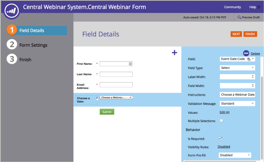 Recurring Webinar Form