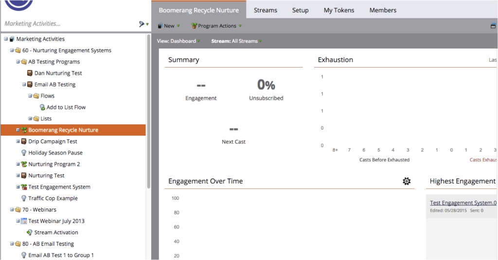 Engagement Dashboard